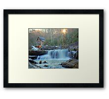 Sunset on Glade Creek Framed Print