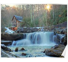 Sunset on Glade Creek Poster