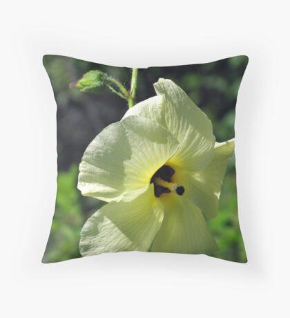 Butter Yellow Throw Pillow