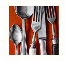 Sterling Cutlery  II Art Print