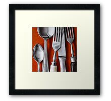Sterling Cutlery  II Framed Print