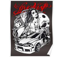Live Fast - Sportscar Girl Poster