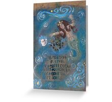 the mermaid and the mocha Greeting Card