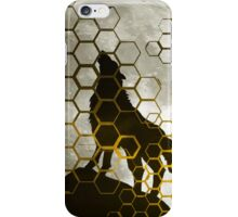 Wolf on cyber mountain iPhone Case/Skin