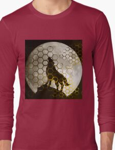 Wolf on cyber mountain Long Sleeve T-Shirt