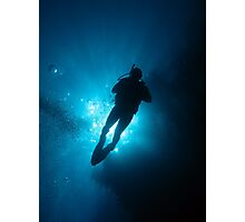 Diver silhouette Photographic Print