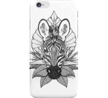 Zebra & Jungle Leaves iPhone Case/Skin