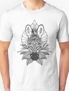 Zebra & Jungle Leaves Unisex T-Shirt
