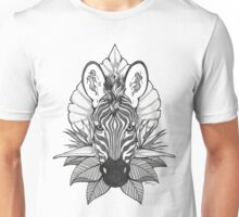 Zebra & Jungle Leaves Unisex T-Shirt