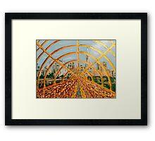 Train City By Octavious Sage  Framed Print