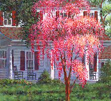 Weeping Cherry by the Veranda by Susan Savad