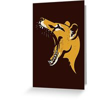 Tasmanian Tiger stencil Greeting Card