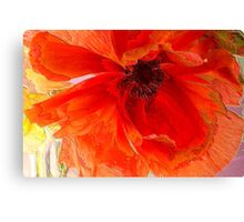 Red Enamel Canvas Print