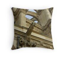 Architectural Detail, St-Eustache Throw Pillow