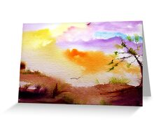 Twilight Colours Greeting Card
