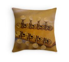Mandolin tuning knobs Throw Pillow