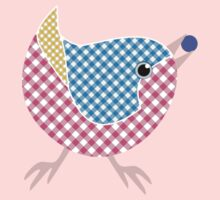 Gingham Bird with Berry Kids Clothes