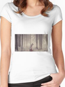Ghost... Women's Fitted Scoop T-Shirt