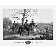 Grant And Lee At Appomattox -- Civil War Photographic Print