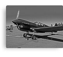 P-40 WARHAWK ON STATIC DISPLAY Canvas Print