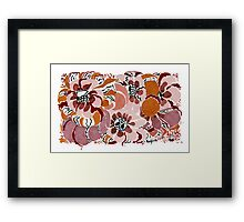 Wild at Heart Flowers Framed Print