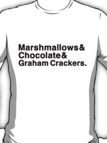Marshmallows & Chocolate & Graham Crackers (light shirts) T-Shirt