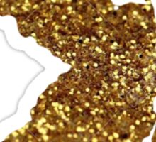 Gold Glitter New Jersey Sticker