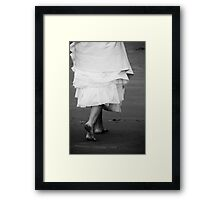 walking into her new life... one filled with love Framed Print