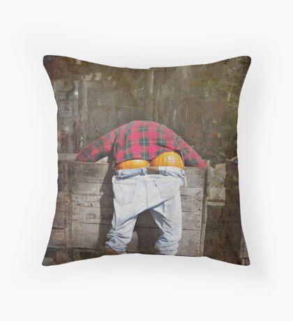Pumpkin Butt Throw Pillow
