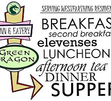 The Green Dragon Serves ALL the Hobbit Meals by sisterphipps
