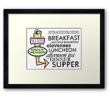 The Green Dragon Serves ALL the Hobbit Meals Framed Print