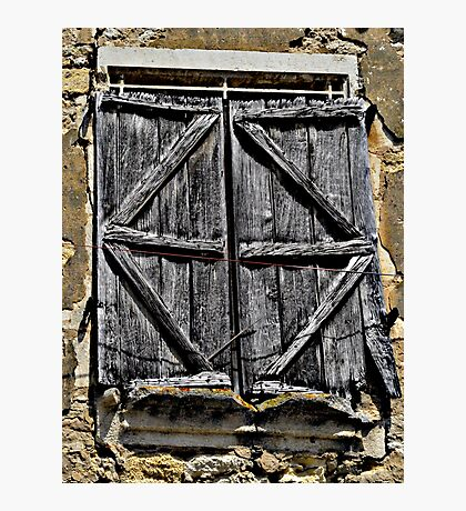 Ancient shutters Photographic Print