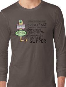 The Green Dragon Serves ALL the Hobbit Meals Long Sleeve T-Shirt