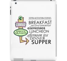 The Green Dragon Serves ALL the Hobbit Meals iPad Case/Skin