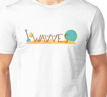 Wavves Text Illustration Unisex T-Shirt