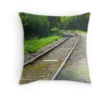 Nasturtium on the tracks Throw Pillow