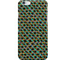 Criss Cross Layered Blended Jagged Fabric Weave Texture Strips Purple Peacock Green Black Blue Amber Brown iPhone Case/Skin