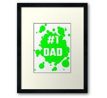 Number One Dad Framed Print