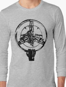 Mad Max Wheel Stencil Design Long Sleeve T-Shirt