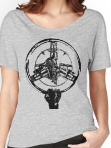 Mad Max Wheel Stencil Design Women's Relaxed Fit T-Shirt