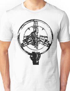 Mad Max Wheel Stencil Design Unisex T-Shirt