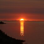 Sunset over Vancouver Island by Chappy