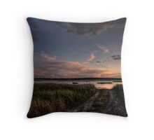 The End of the Road Throw Pillow