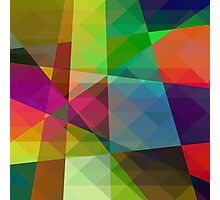Colorful Geometric Abstract Pattern Photographic Print