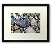 My Heart Is A Rock Framed Print