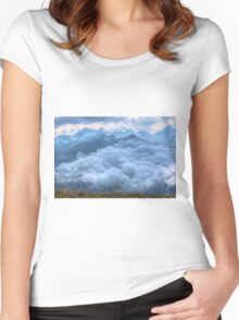 Above the Clouds Women's Fitted Scoop T-Shirt