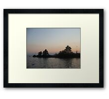 The end of the day, Auguest 15, 2009 Framed Print