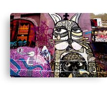 Cat Graffiti Canvas Print
