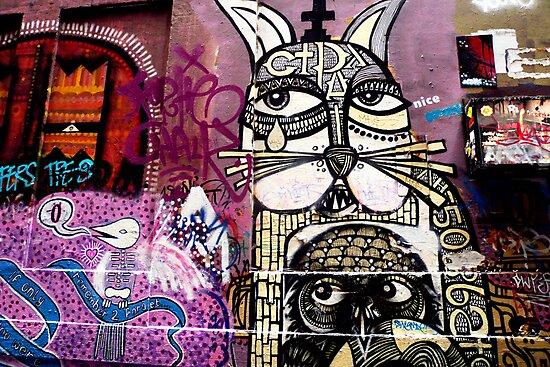 Cat Graffiti by Roz McQuillan