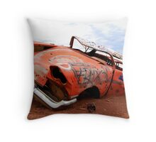 Abandoned Art  Throw Pillow